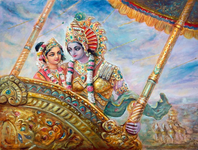 Lord Krishna and Rukmini