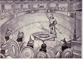 Dhristdyumna announces Draupadi swayamvara