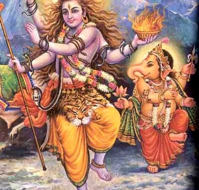 Ganesha and Lord Shiva