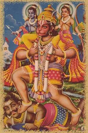 Lord Hanuman defeating Ahiravan
