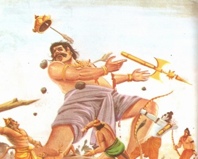 Rama kills Kumbhkarna