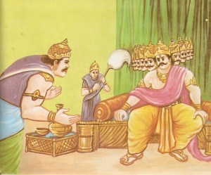 Ravana knows about survival of Rama and Laxman