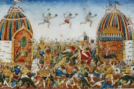 Vanaras and Demons at Lanka