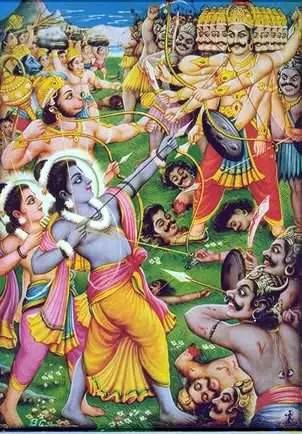 Rama Laxmana and Ravana