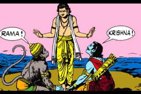 Arjuna and Hanumana