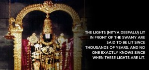 Tirupati - lights are lit for thousand years