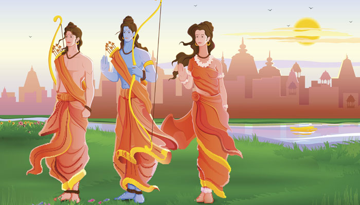 Rama Sita and Laxmana