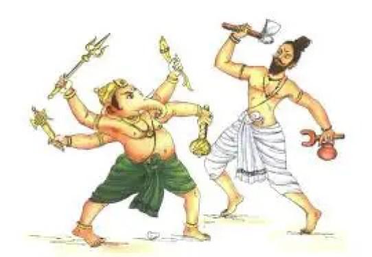Parshuram and Lord Ganesha
