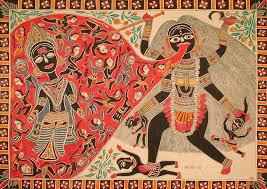 Maa Kali and Raktabija