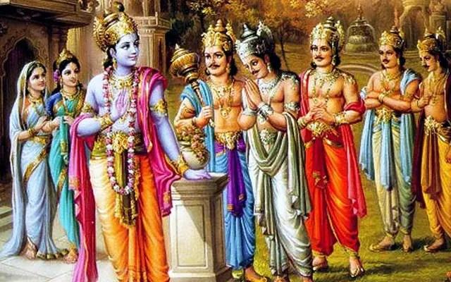 Shri Krishna and Pandavas