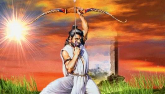 Arjuna with Gandiva