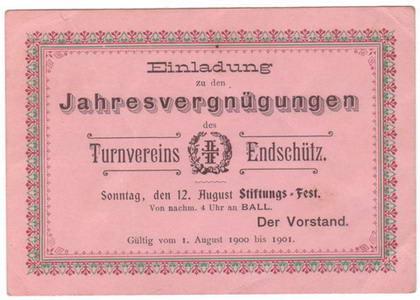 Einladung zum Ball 1900