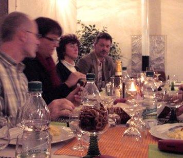 1. Weinverkostung im Rittergut am 13.11.2010