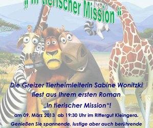 Buchlesung im Rittergut am 09.03.2013