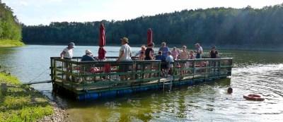 Ausflug zur Floßfahrt auf der Leubatalsperre