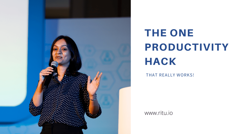 The one productivity hack that really works