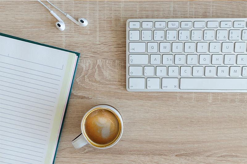 systems, desk, keyboard, coffee