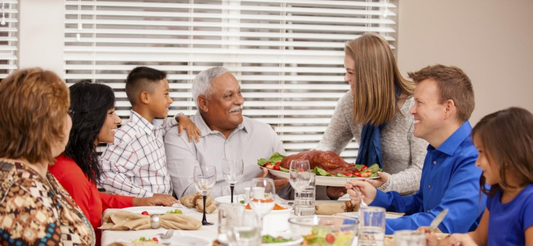 Image result for diverse family thanksgiving meal