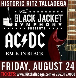 Black Jacket Symphony AC-DC Back in Black @ Historic Ritz Theatre | Talladega | Alabama | United States