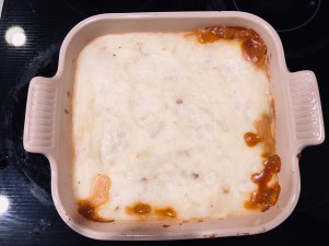 Finished view of shepherds pie