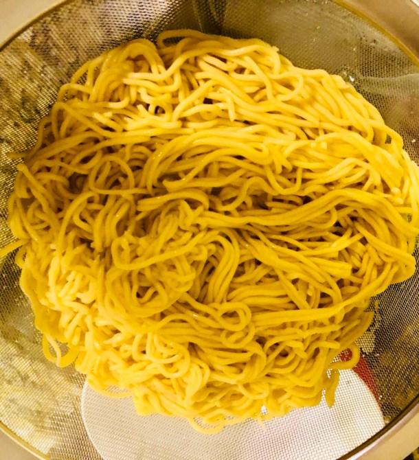 Strain homemade pasta