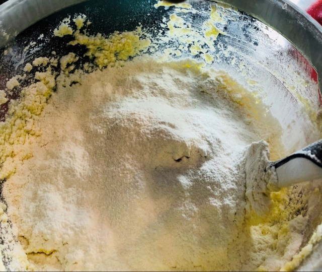 add Sifted flour mixture