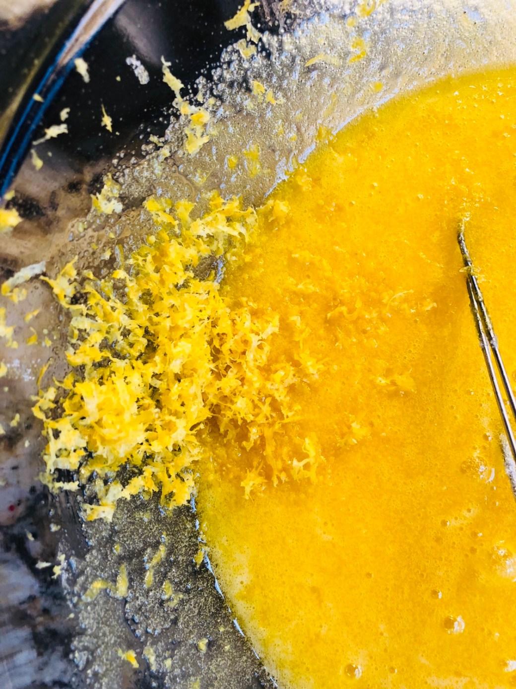 Add lemon zest to lemon bar filling