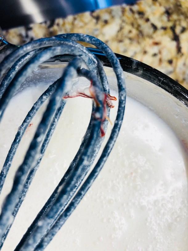 Soak Saffron in coconut milk