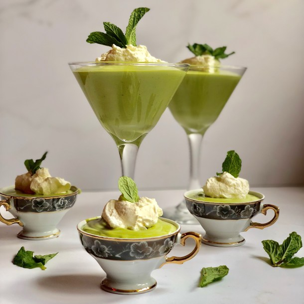 White Chocolate Matcha Mousse