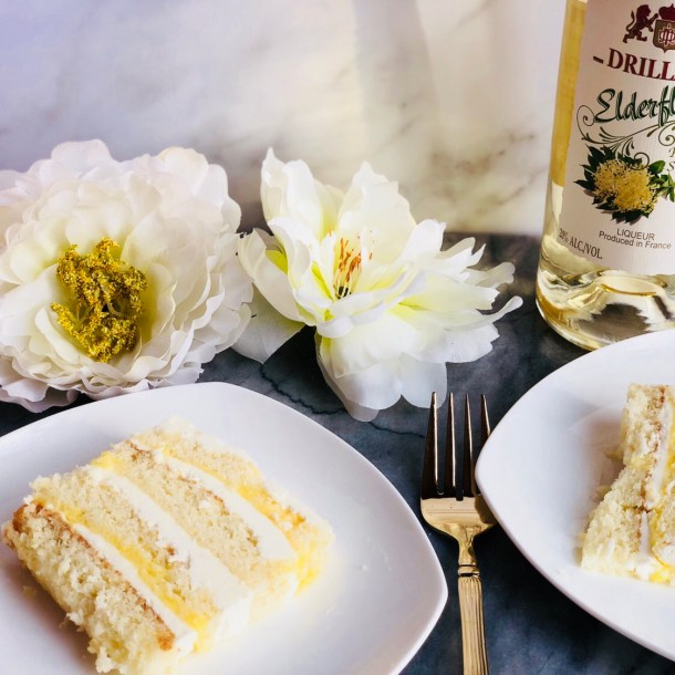 Lemon Elderflower Layer Cake