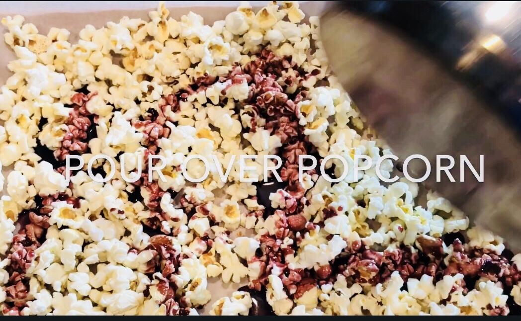 red wine infused popcorn