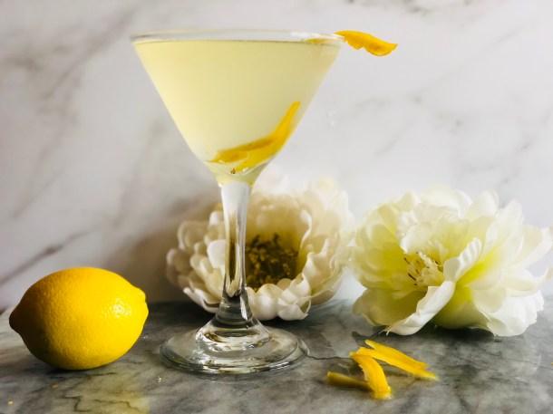 Lemon Eldflower Martini inspired by Meghan Markle and Prince Harry
