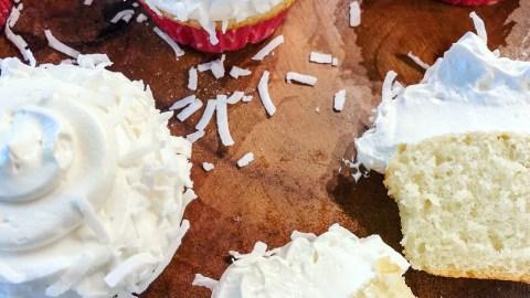 coconut cream cupcakes with coconut buttercream