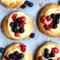 Berry Cream Cheese Brioche Pastries