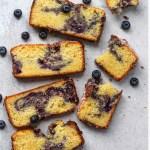 mandarin blueberry swirl loaf