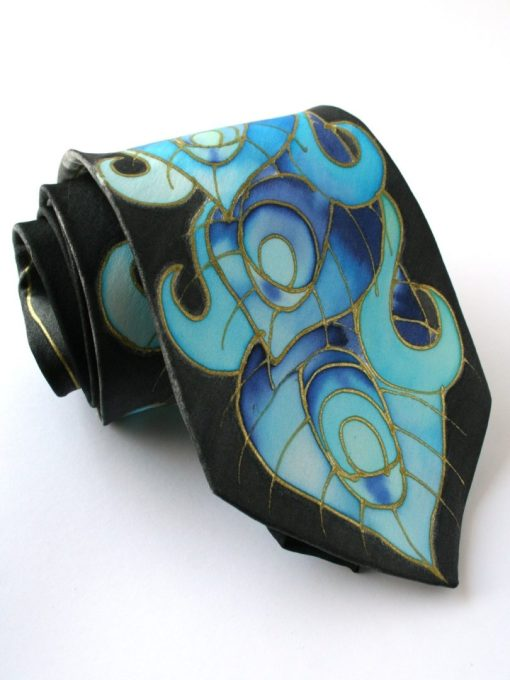 Blue Peacock Necktie , Peacock Wedding