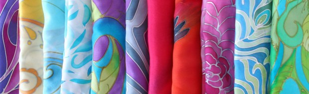 Hand Painted Silk Scarves and Neckties