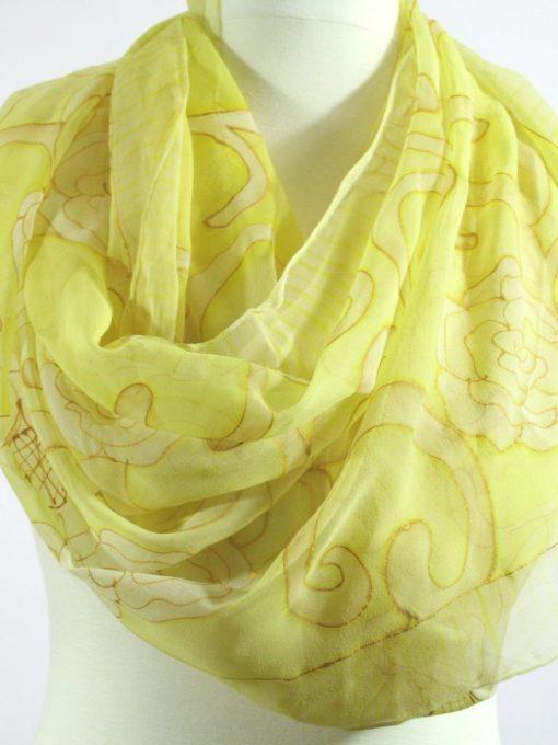 Golden Yellow Chiffon scarf