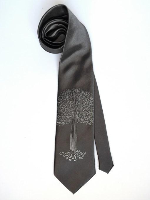 White Tree Gray Tie
