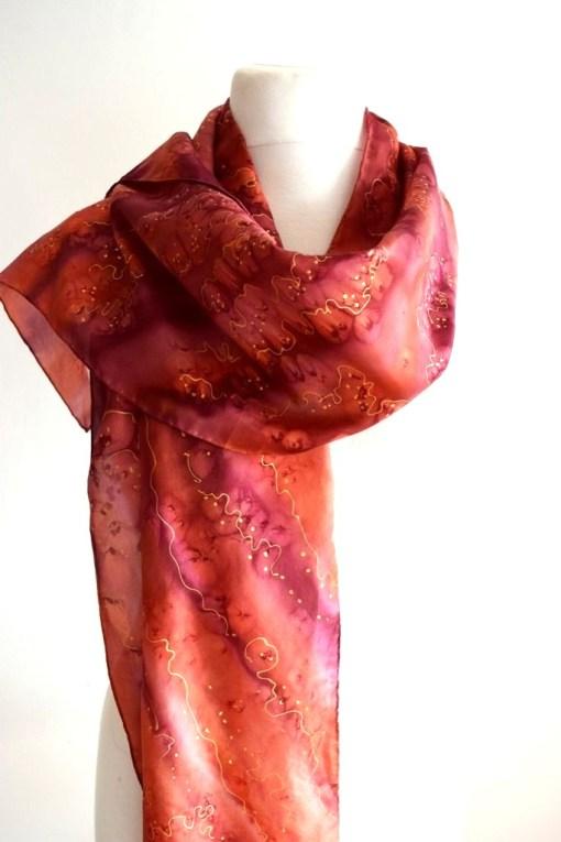 Garnet Copper Silk Scarf