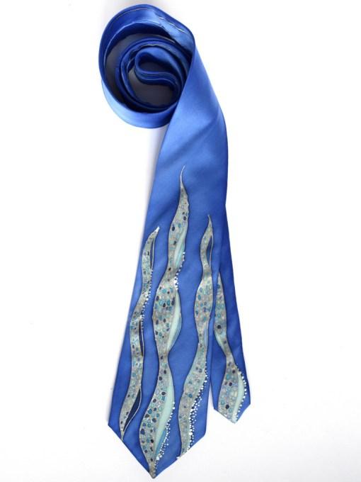 Blue Waves Tie