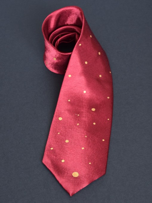 Cranberry Dot Tie
