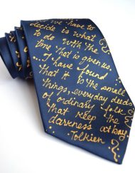 LOTR Book silk neckties