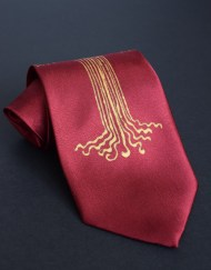 Red Gold Tree Tie