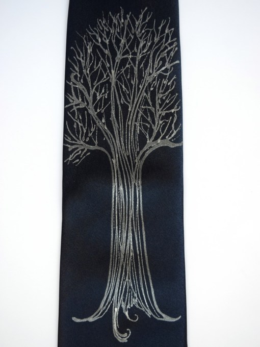 Silver Tree Tie