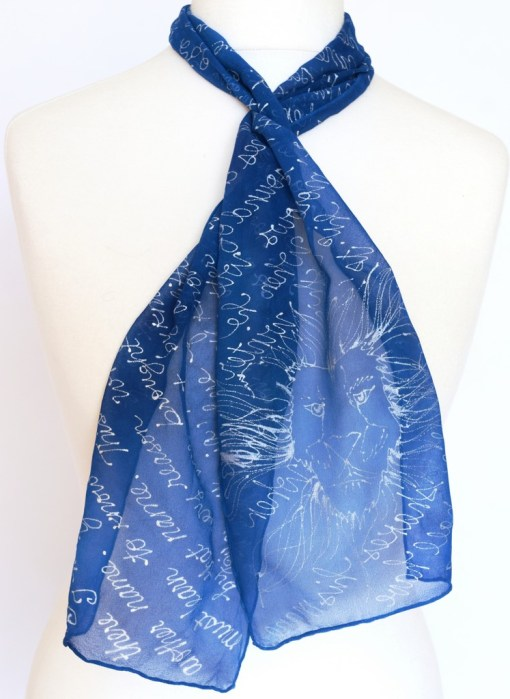 Blue Aslan Book Scarf with quotes