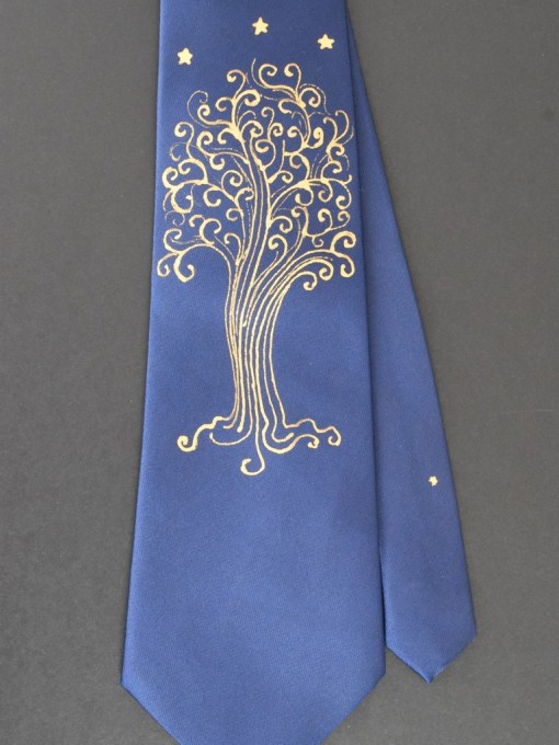 Blue LOTR Star Tree Tie Oak