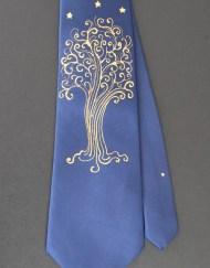Blue LOTR Star Tree Tie Oak