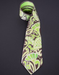 Green Brown Paisley Tie Dapper