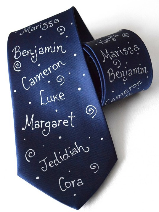 Hand Painted Personalized Name Tie